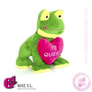 Rana de Peluche Corazón 30cm.