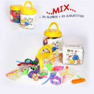 Tarro surt. 25 glos. + juguetes