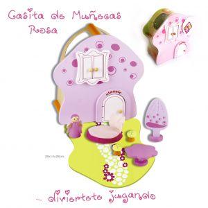 Casita muñecas rosa
