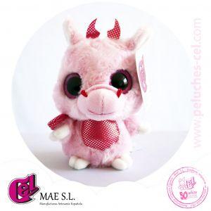 Dragón rosa de 12cm.